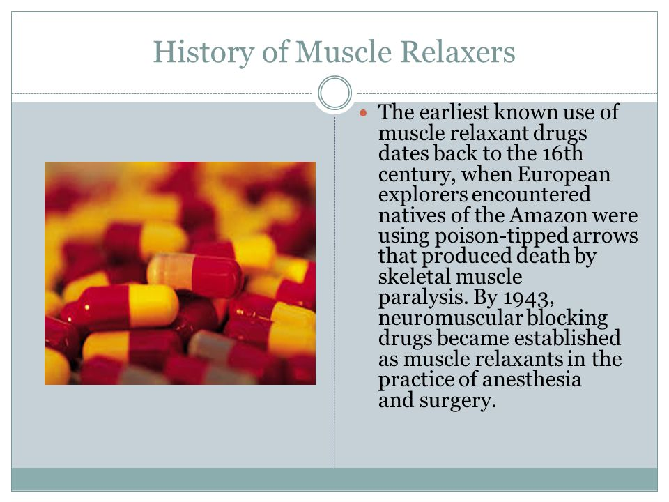 Muscle Relaxers and the Nervous System Muscle relaxers refer to two major therapeutic groups: neuromuscular blockers and spasmolytics