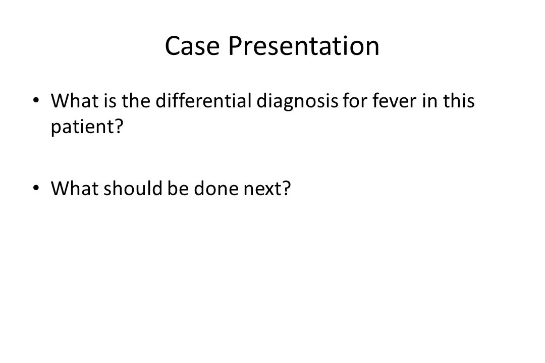 HIV/AIDS Fever Differential Diagnosis M.