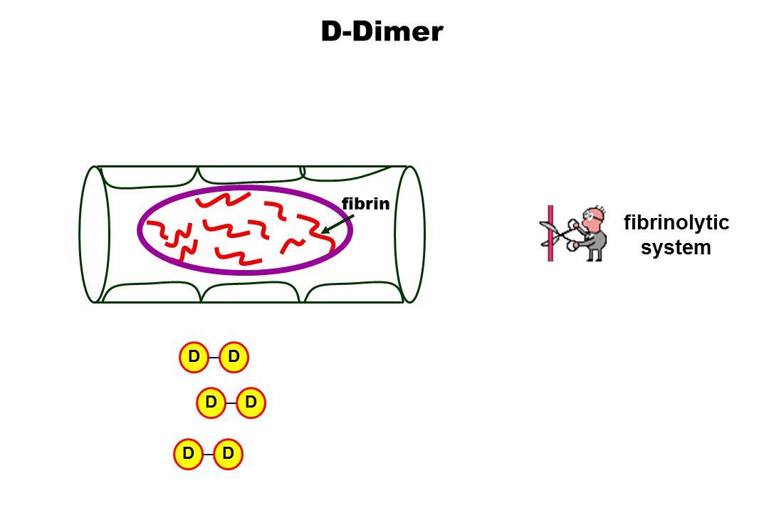 D-Dimer fibrin DD DD DD fibrinolytic system