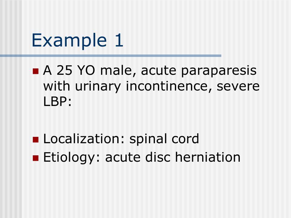 Principles of Neurological Diagnosis 1. Localization 2. Etiology