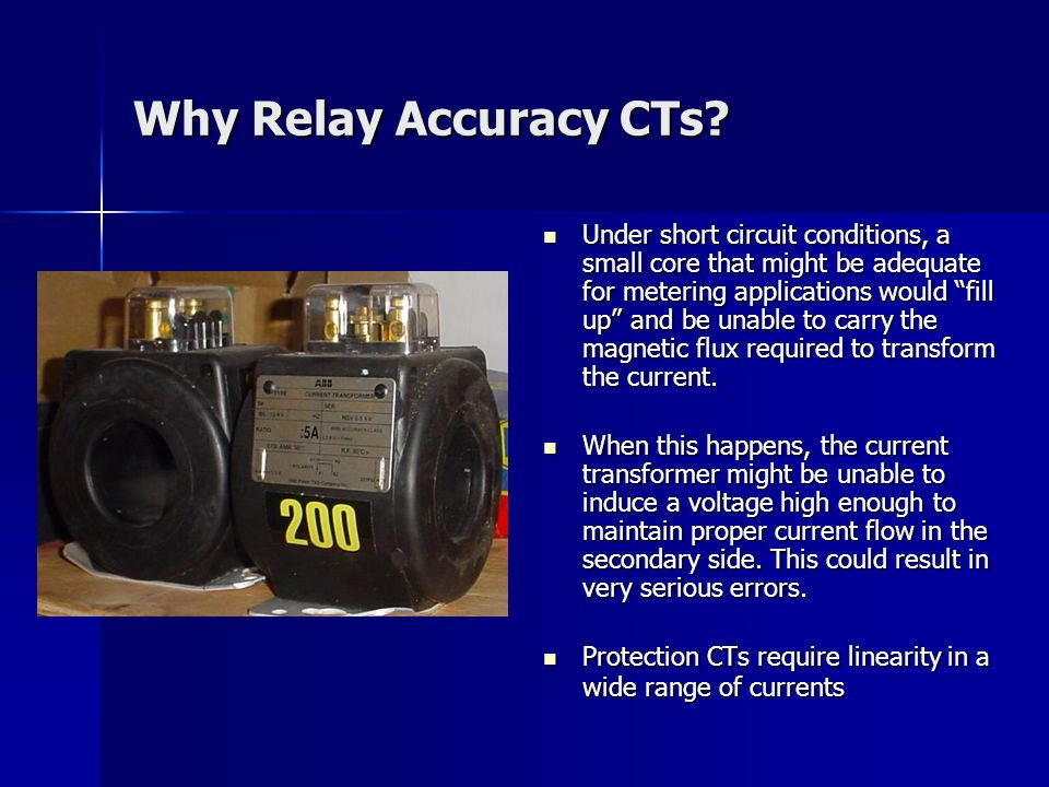 Why Relay Accuracy CTs.