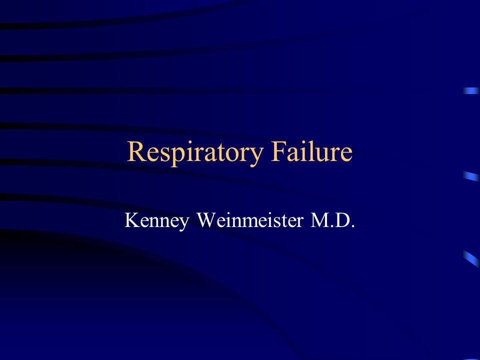Respiratory Failure Kenney Weinmeister M.D.