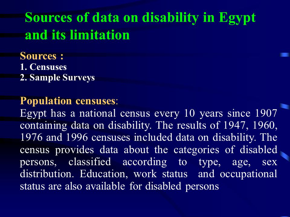 Disability Statistics in Selected Developed Countries Australia 1998 19.3 Canada 1991 15.5 New Zealand 1996 20.0 United Kingdom 1991 12.2 United States 1994 15.0 United States 1990 10.0