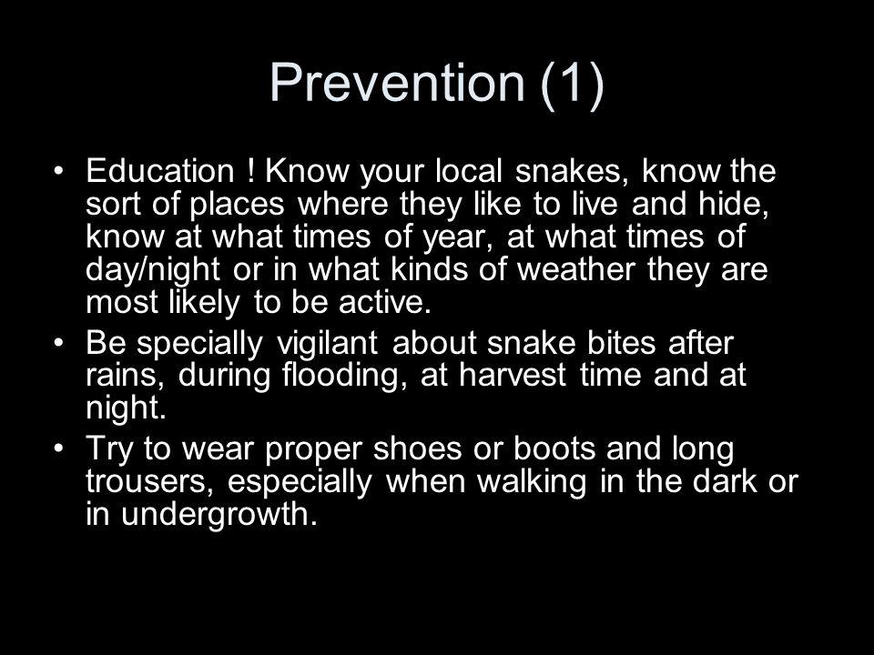Prevention (1) Education .