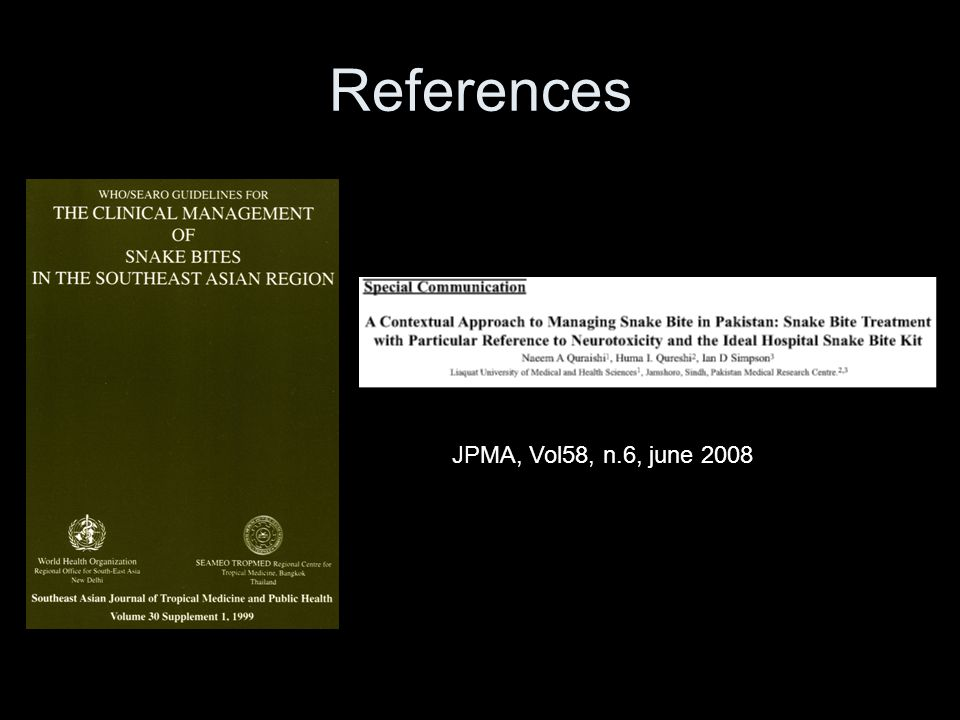 References JPMA, Vol58, n.6, june 2008