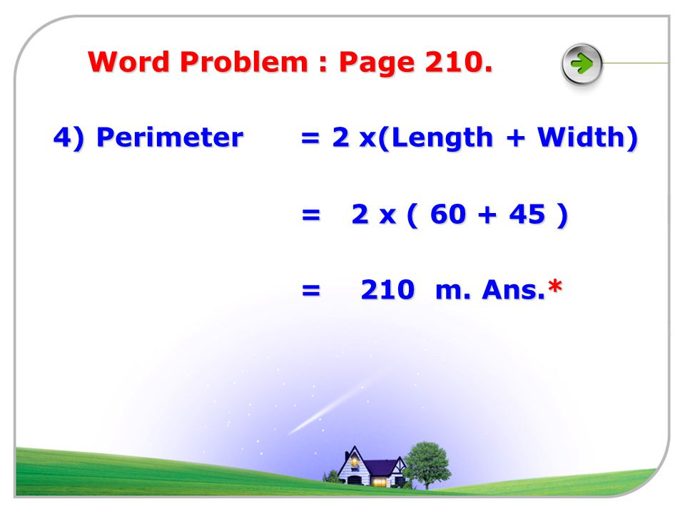 Word Problem : Page 210.