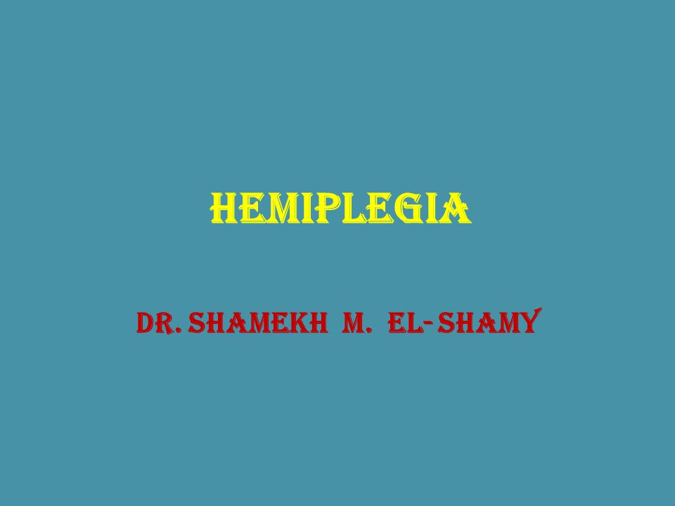 Hemiplegia Definition: paralysis of one side of the body due to pyramidal tract lesion at any point from its origin in the cerebral cortex down to the 5 th cervical segment.