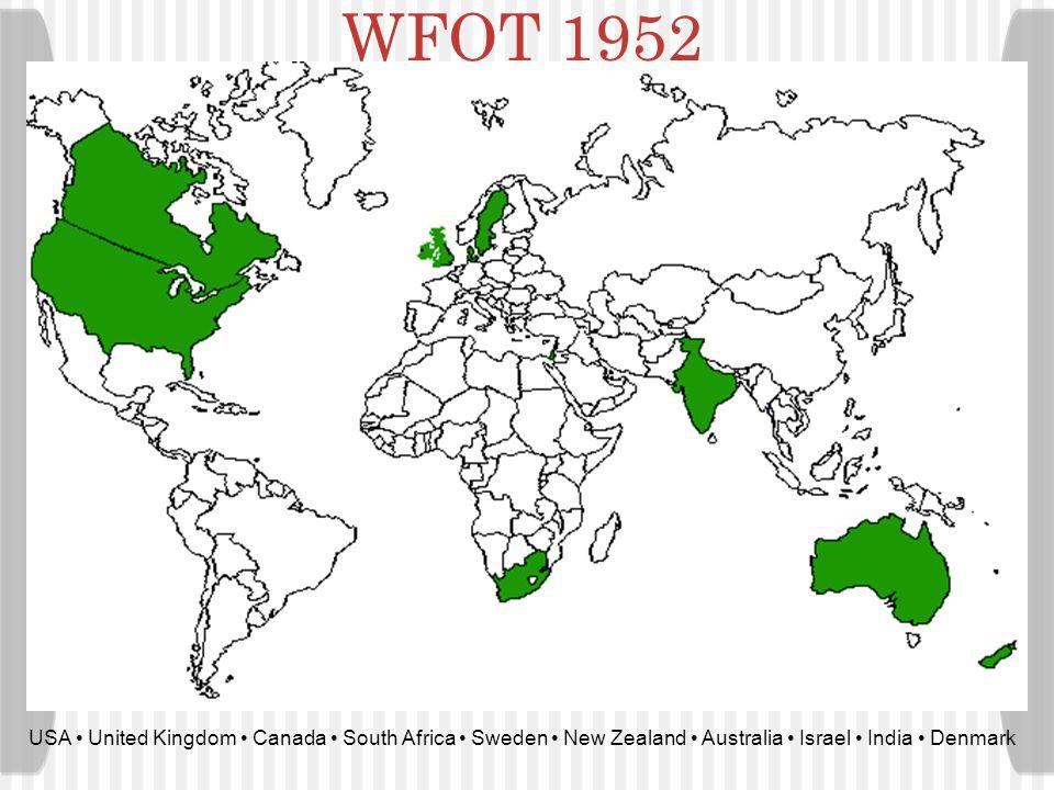 WFOT Focus Program Areas: Education & research Standards & quality International Cooperation Executive programs Promotion & development