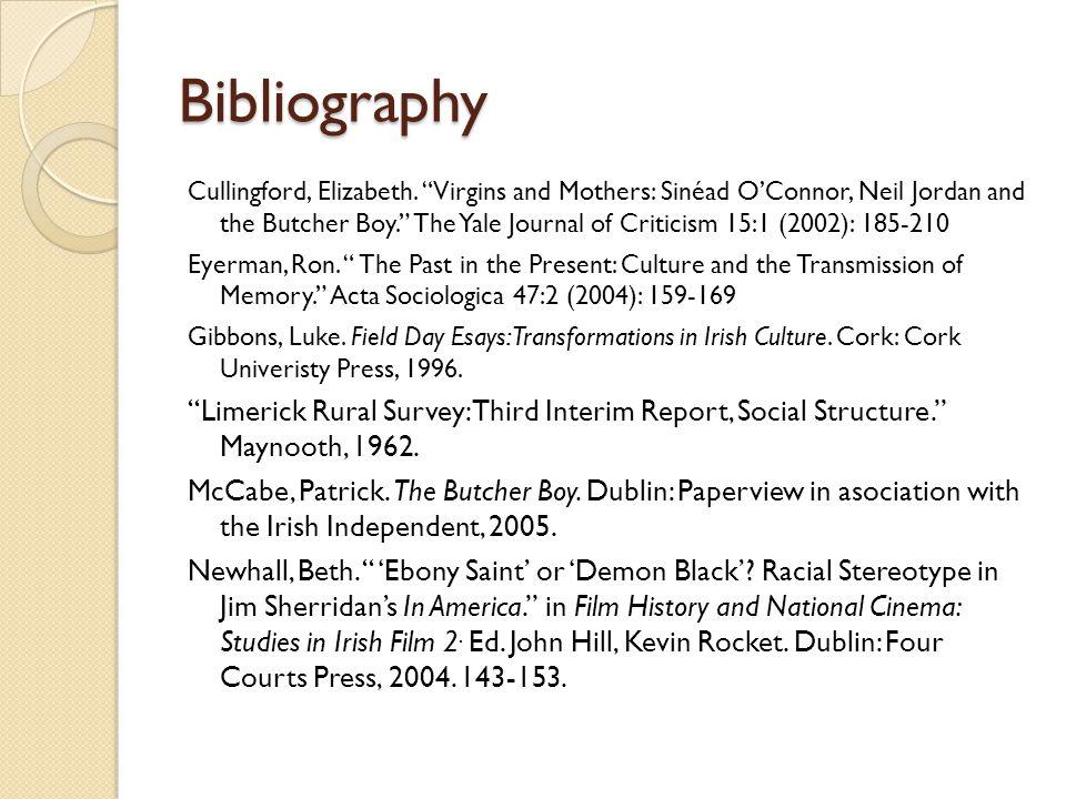 Bibliography Cullingford, Elizabeth.
