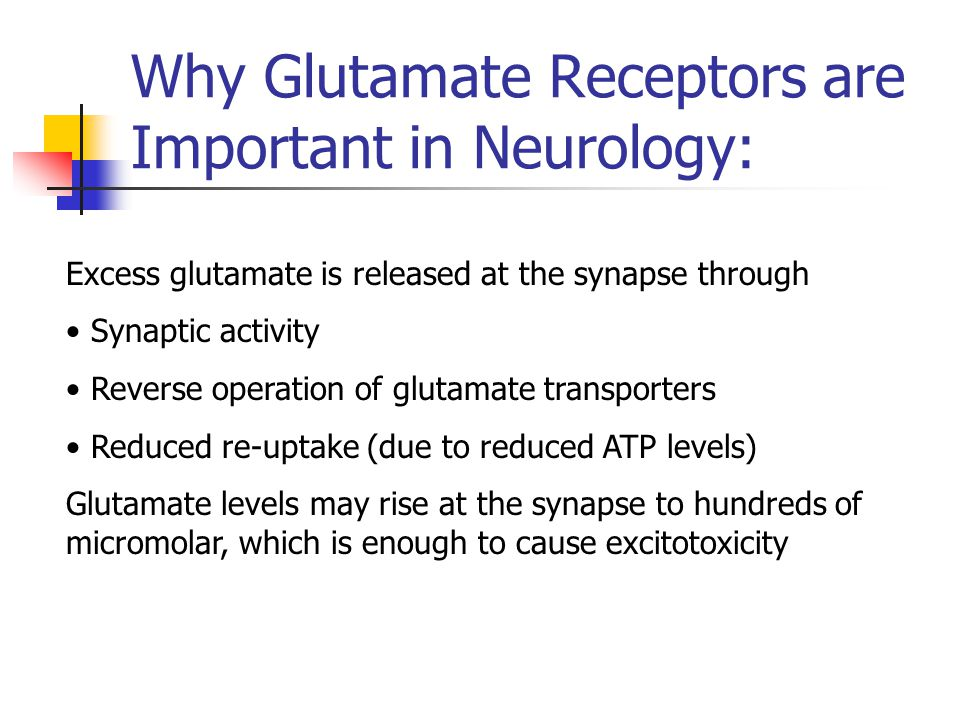 What happens to neurons with excess glutamate? Normal Neuron