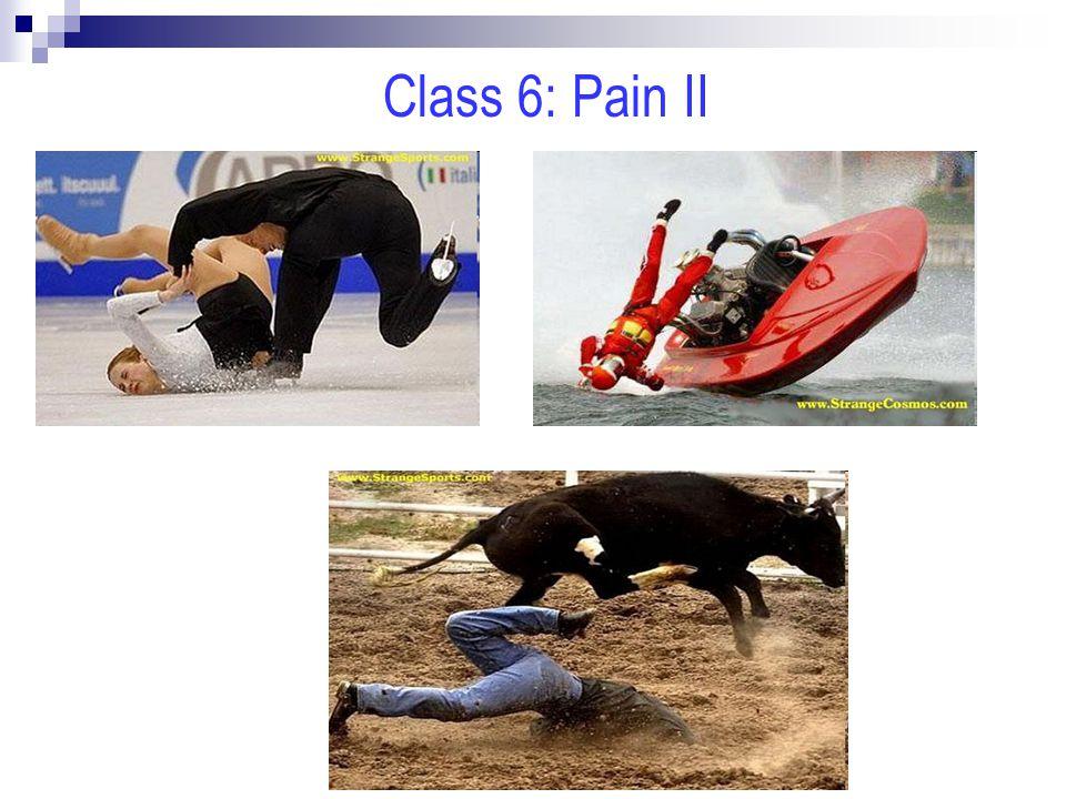 Class 6: Pain II
