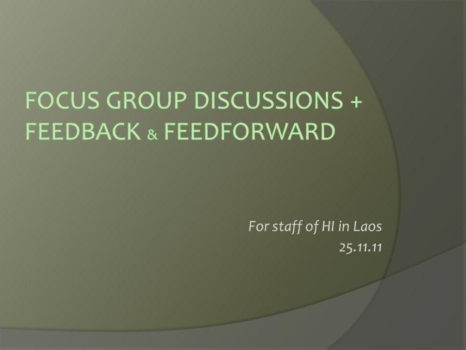 For staff of HI in Laos 25.11.11