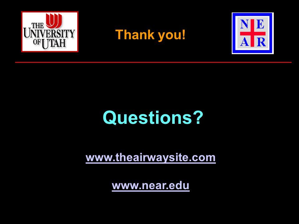 Questions www.theairwaysite.com www.near.edu Thank you!