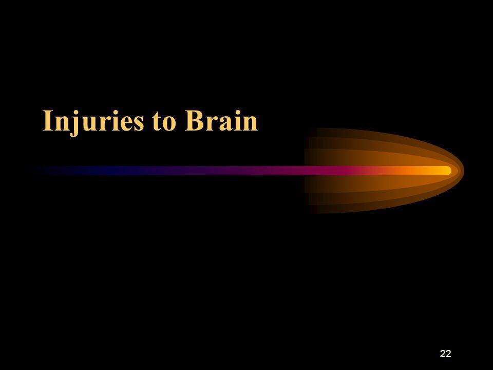 22 Injuries to Brain
