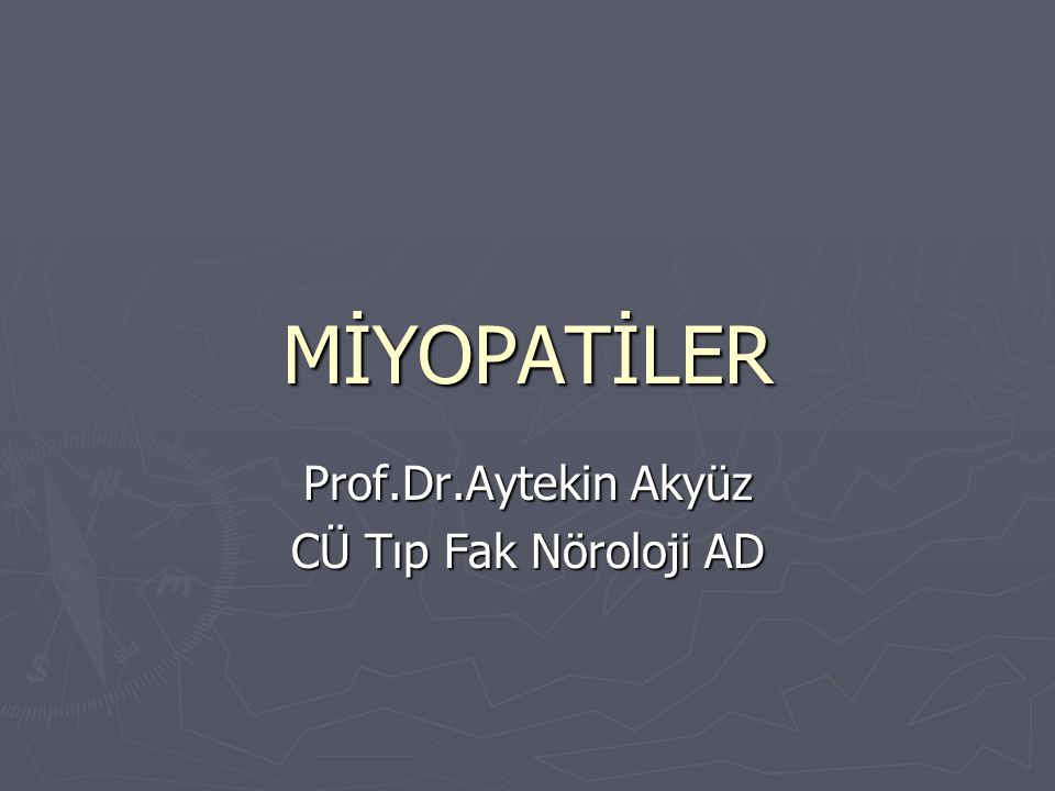 Miyopatiler ► ► Largest group of neuromuscular diseases ► ► Most diverse group ► ► All show a loss of muscle fibers   Proximal more than distal ► ► No involvement of the anterior horn cell, nerve axon, or neuromuscular junction