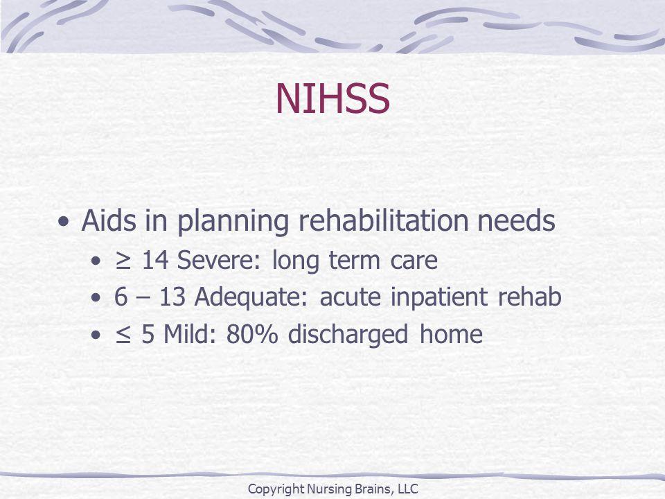 Cranial Nerve Function Copyright Nursing Brains, LLC