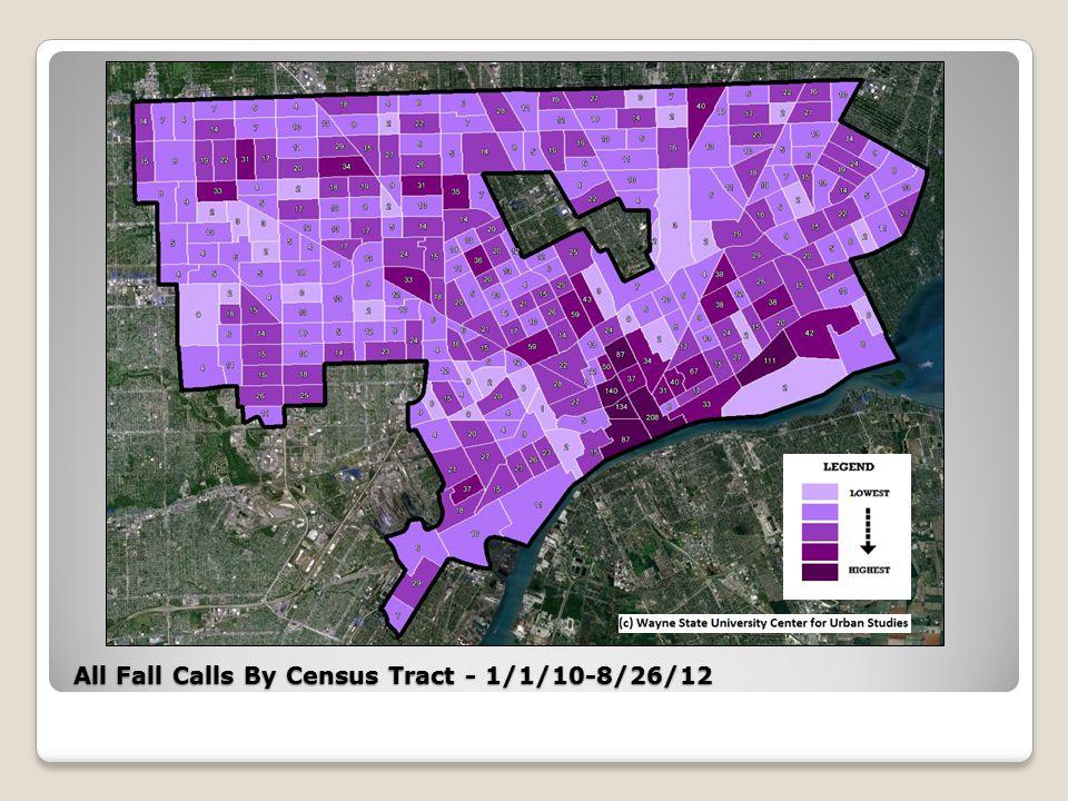 Osborn Target Area All Fall/Less than 6 ft. EMS Calls – 1/1/10-8/26/12