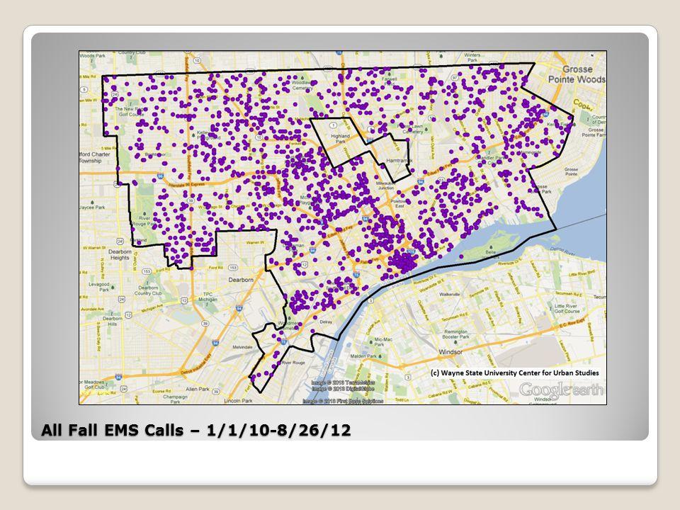 Osborn Target Area All Fall/Paralysis/No Feeling EMS Calls – 1/1/10-8/26/12