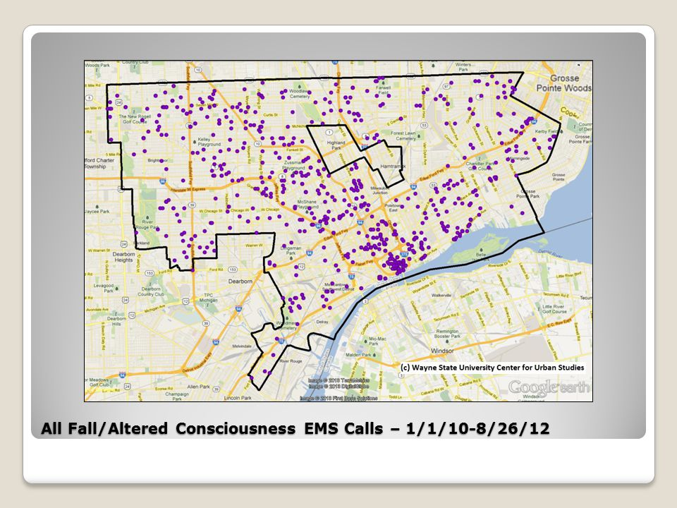 All Fall/Altered Consciousness EMS Calls – 1/1/10-8/26/12