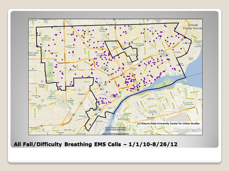 All Fall/Less than 6 ft. EMS Calls – 1/1/10-8/26/12