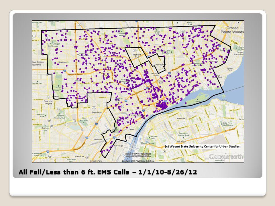 All Fall/Not Alert EMS Calls – 1/1/10-8/26/12