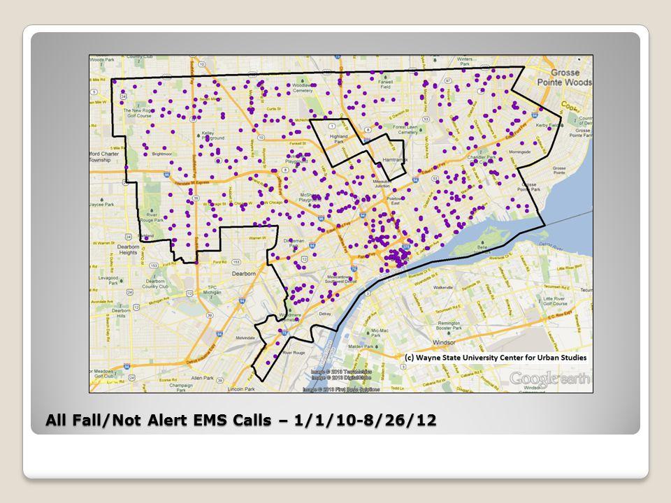 Southwest Target Area All Fall/Altered Consciousness EMS Calls – 1/1/10-8/26/12
