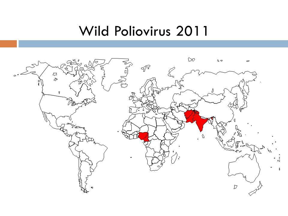 350 000 cases / 125 countries Poliomyelitis in 1988