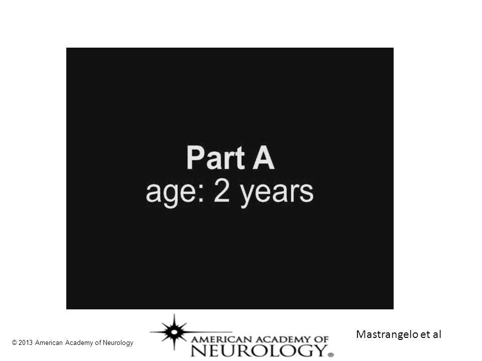 Mastrangelo et al © 2013 American Academy of Neurology