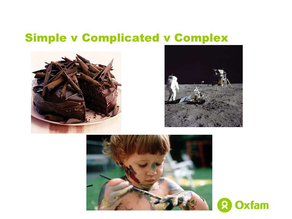 Simple v Complicated v Complex