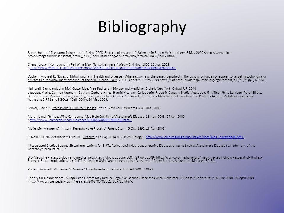 Bibliography Bundschuh, K.