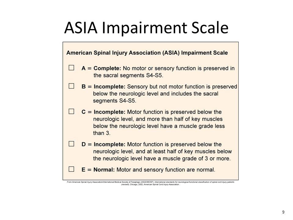 ASIA Impairment Scale 9