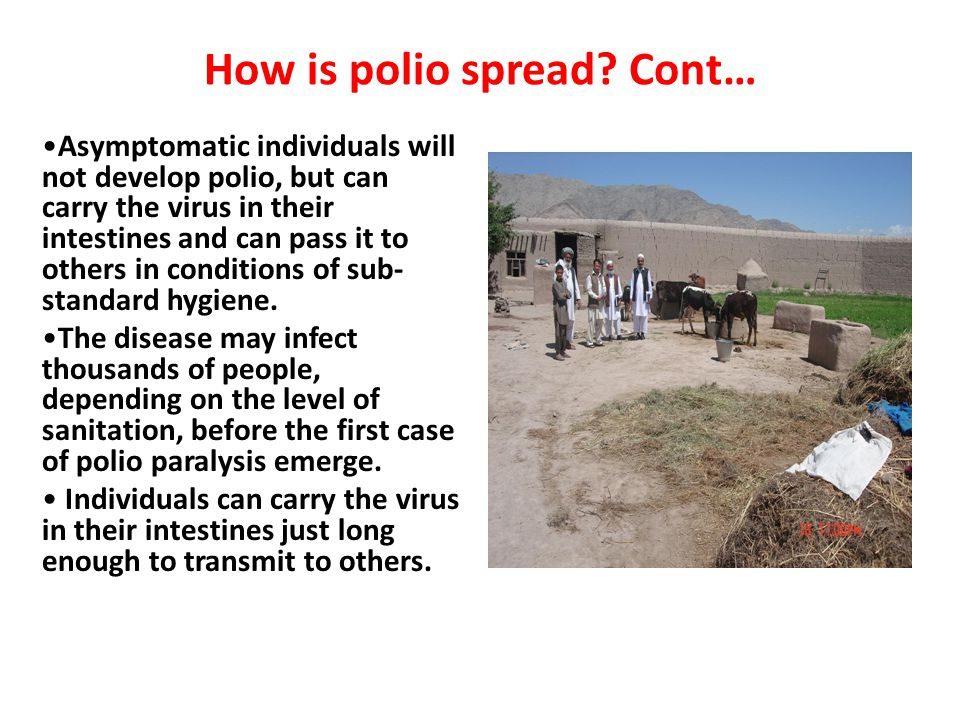 How is polio spread.