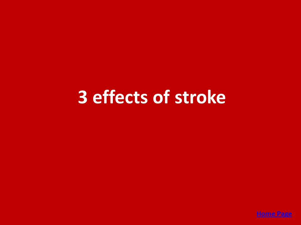 3 effects of stroke Home Page