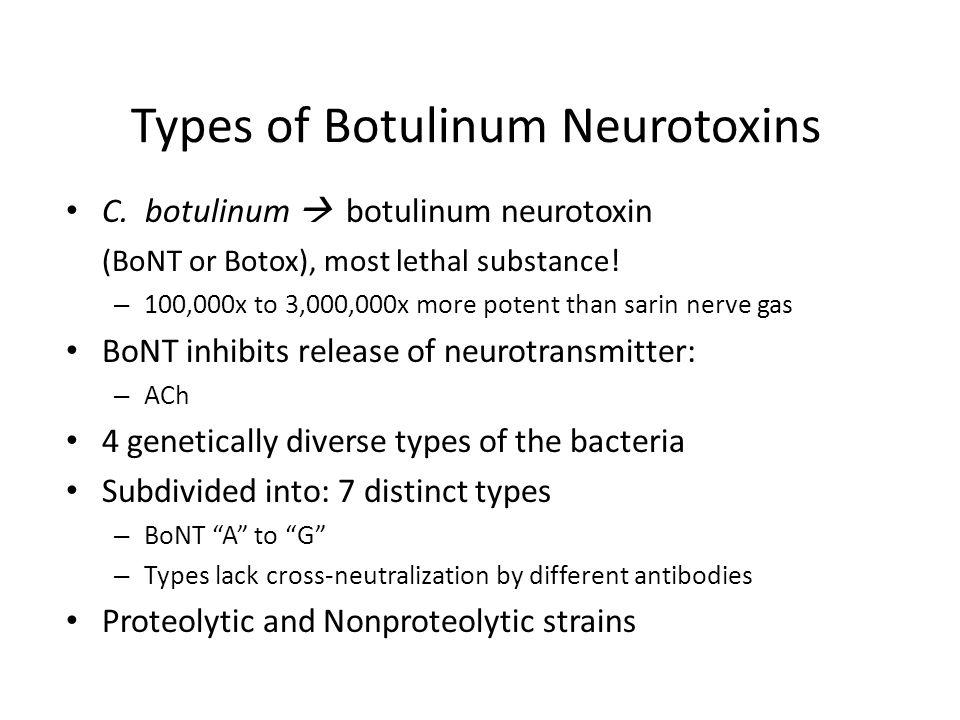 Types of Botulinum Neurotoxins C.