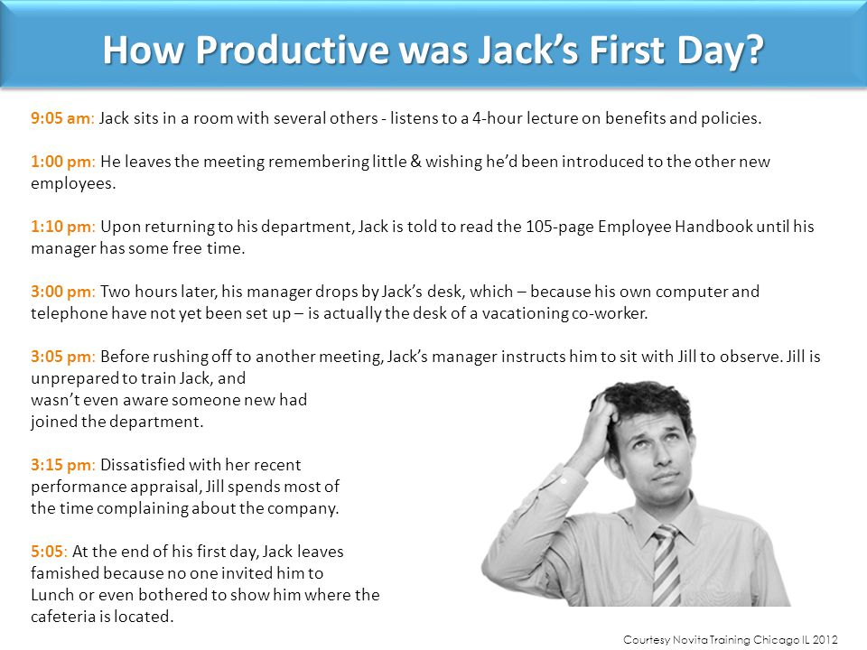 How Productive was Jack's First Day.
