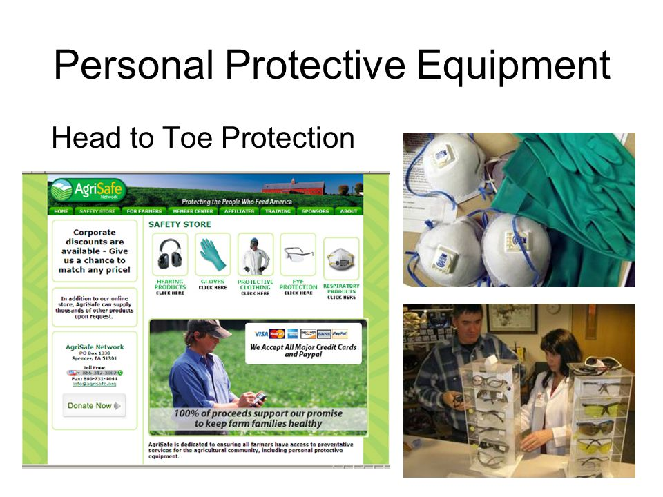 Personal Protective Equipment Head to Toe Protection