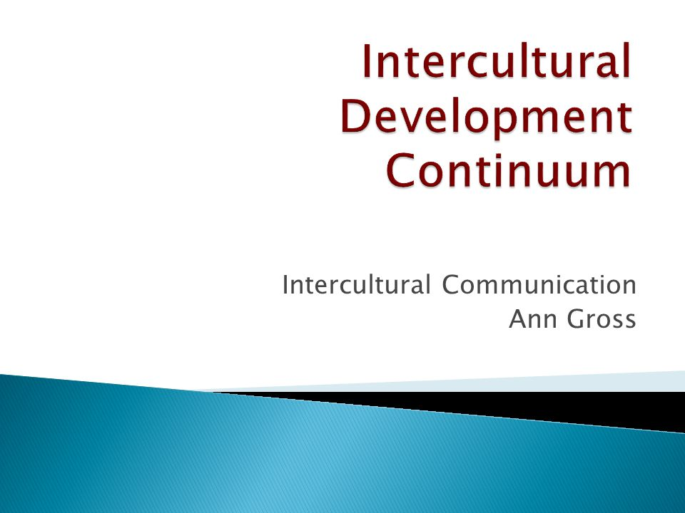 Intercultural Communication Ann Gross