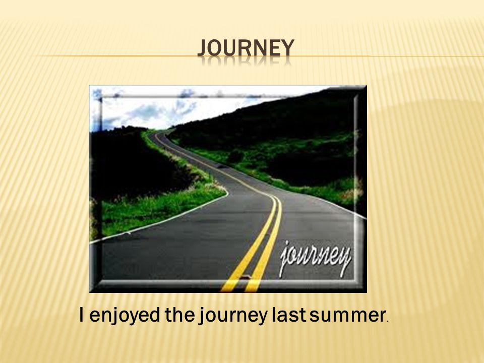 I enjoyed the journey last summer.