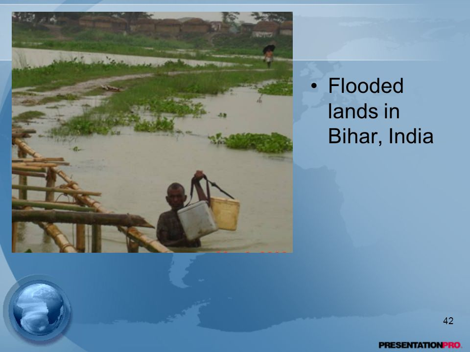Flooded lands in Bihar, India 42