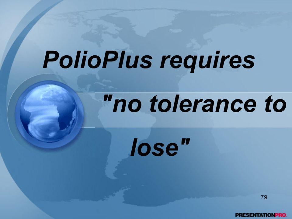 PolioPlus requires