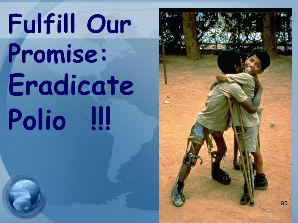 Fulfill Our Promise: Eradicate Polio !!! 85