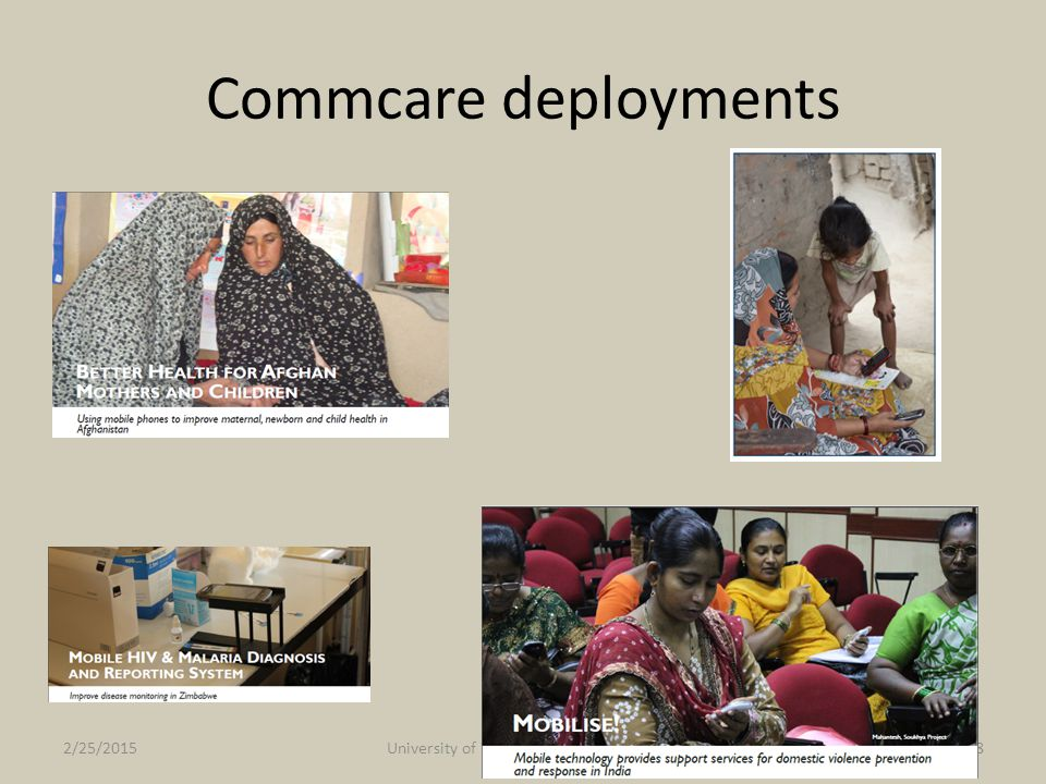 Commcare deployments 2/25/2015University of Washington, Winter 201518