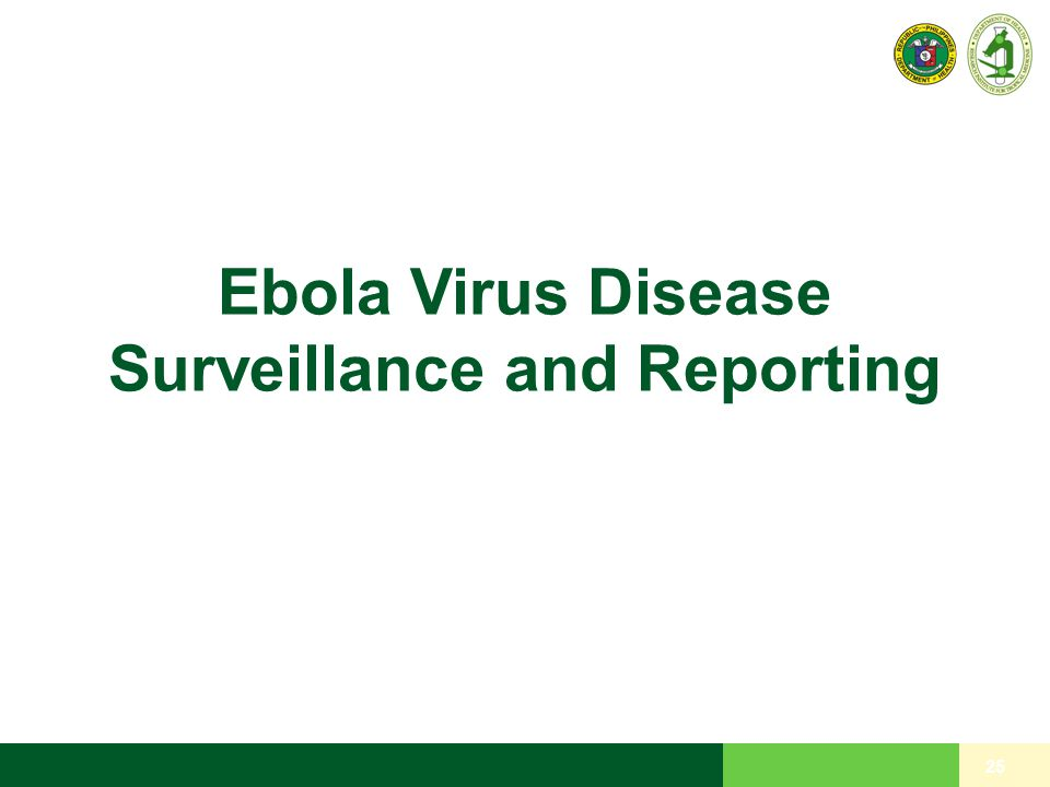 Ebola Virus Disease Surveillance and Reporting 25
