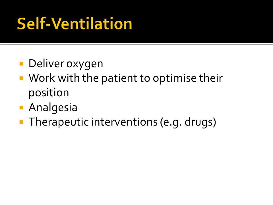  Respiratory Rate 10-12 breaths/min. Tidal Volume 6-8 ml/Kg.