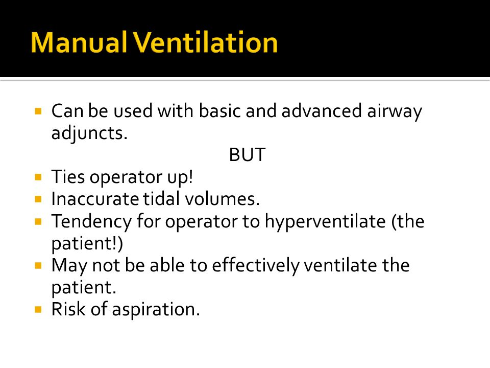  Discussed means of ventilation  Focused on mechanical ventilation  Talked about difficult patient groups  Looked at future adjuncts that may help with ventilatory support