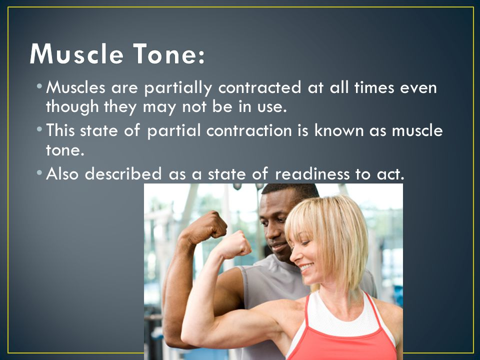 Loss of muscle tone Can occur in severe illness such as paralysis When muscles are not used for a long period of time, they can atrophy or waste away Lack of use can result in a contracture Severe tightening of a flexor muscle Results in bending of a joint Foot drop is a common contracture Many joints such as fingers, wrists, and knees can be affected.