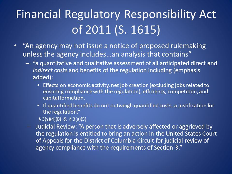 Financial Regulatory Responsibility Act of 2011 (S.