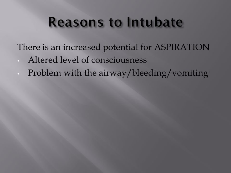 The patient cannot effectively VENTILATE Asthma COPD Neurological cause JPFROG