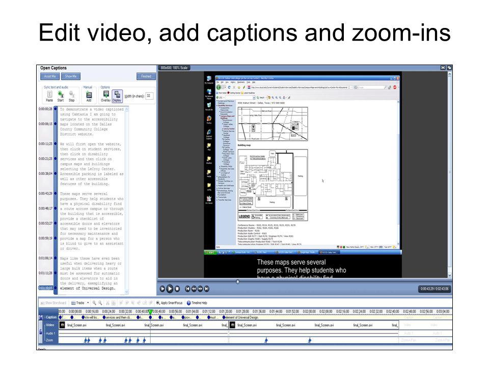 Edit video, add captions and zoom-ins