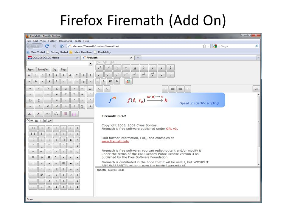 Firefox Firemath (Add On)